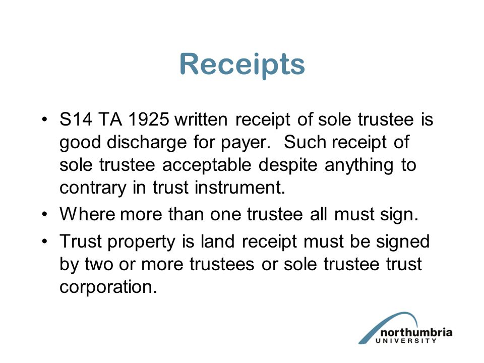 Power of sale Trustees do not necessarily need a power of sale over the trust assets but usually do.