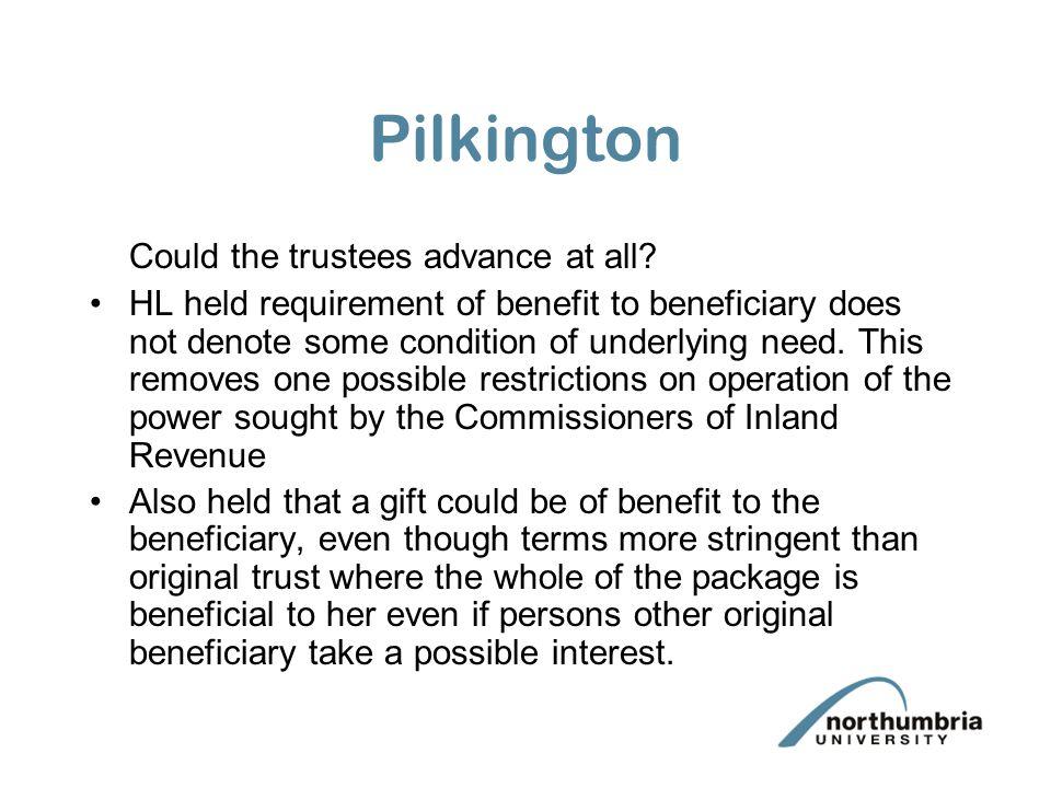 Pilkington v I. R. C. [1964] A.C. 612 Two trusts were set up.