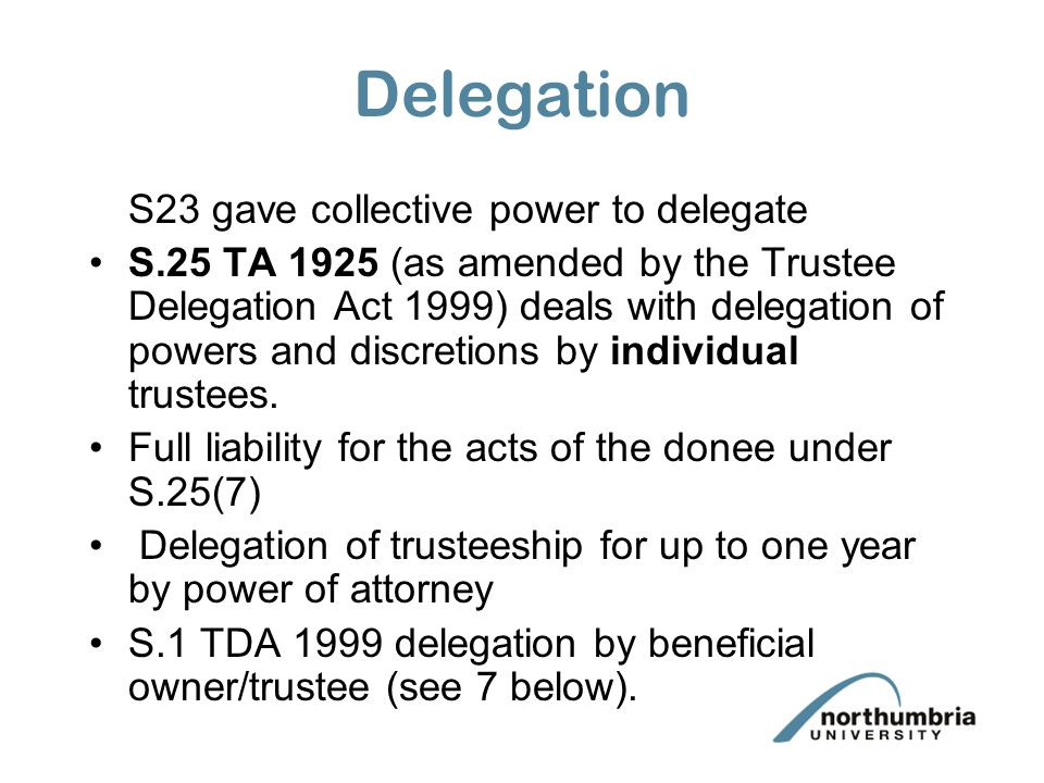 Delegation S23 permitted delegation of administrative acts.