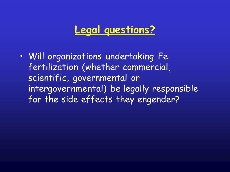 Legal questions.