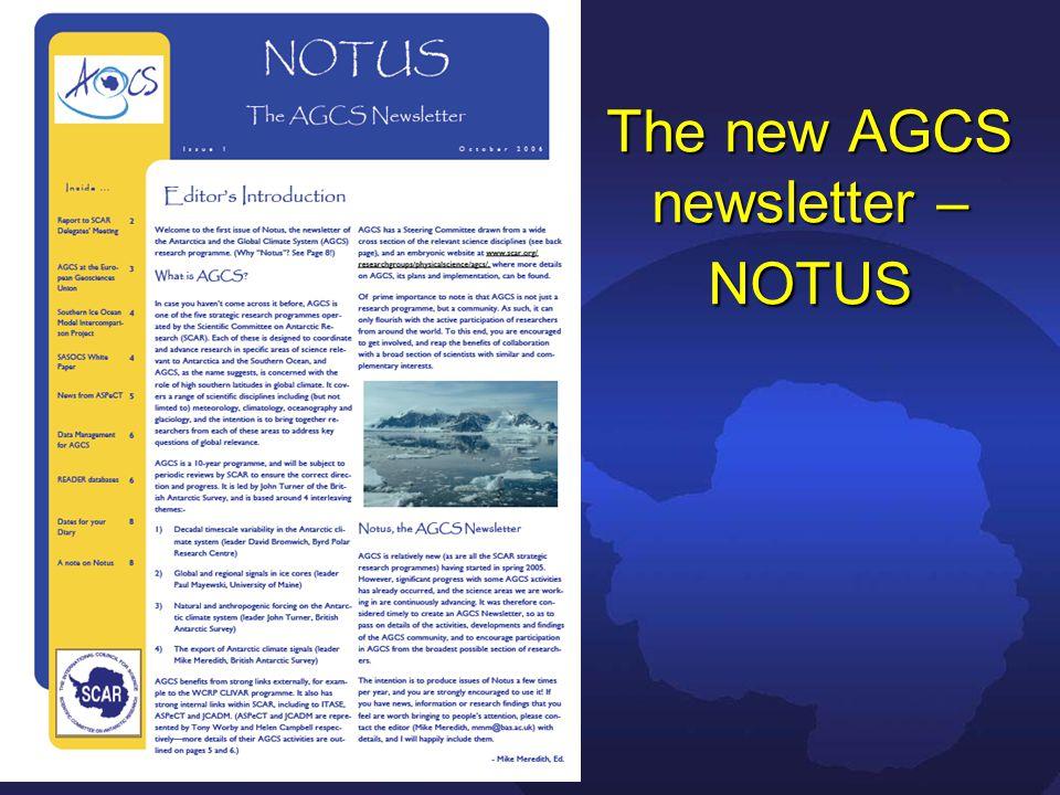 The new AGCS newsletter – NOTUS