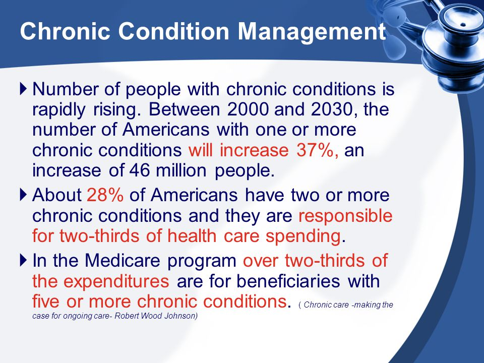  Number of people with chronic conditions is rapidly rising.