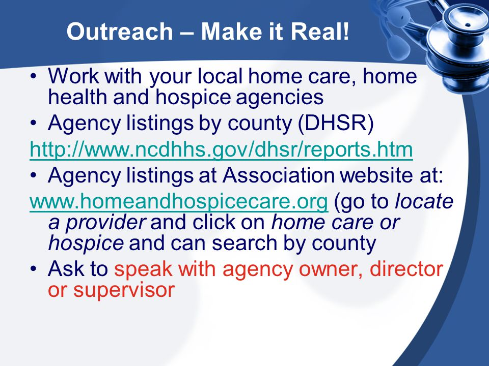 Outreach – Make it Real.