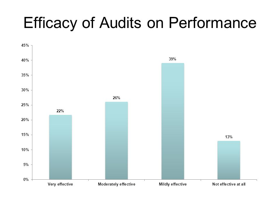 Efficacy of Audits on Performance