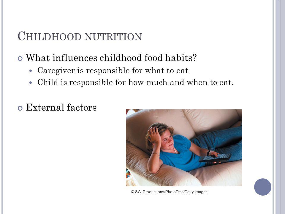 C HILDHOOD NUTRITION What influences childhood food habits.