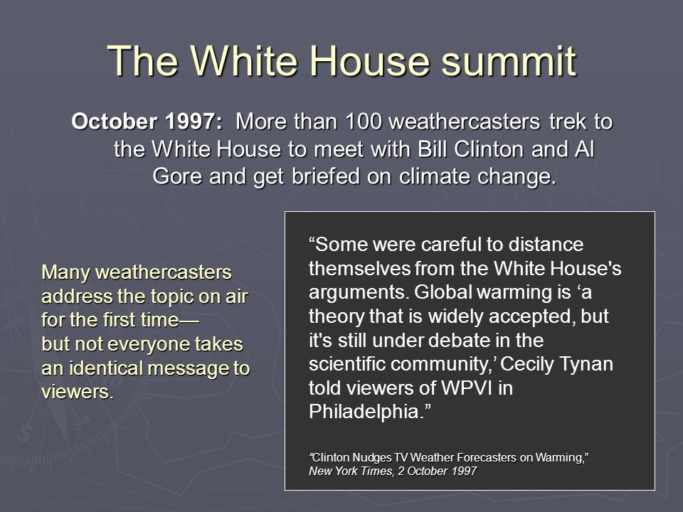 The White House summit Some were careful to distance themselves from the White House s arguments.