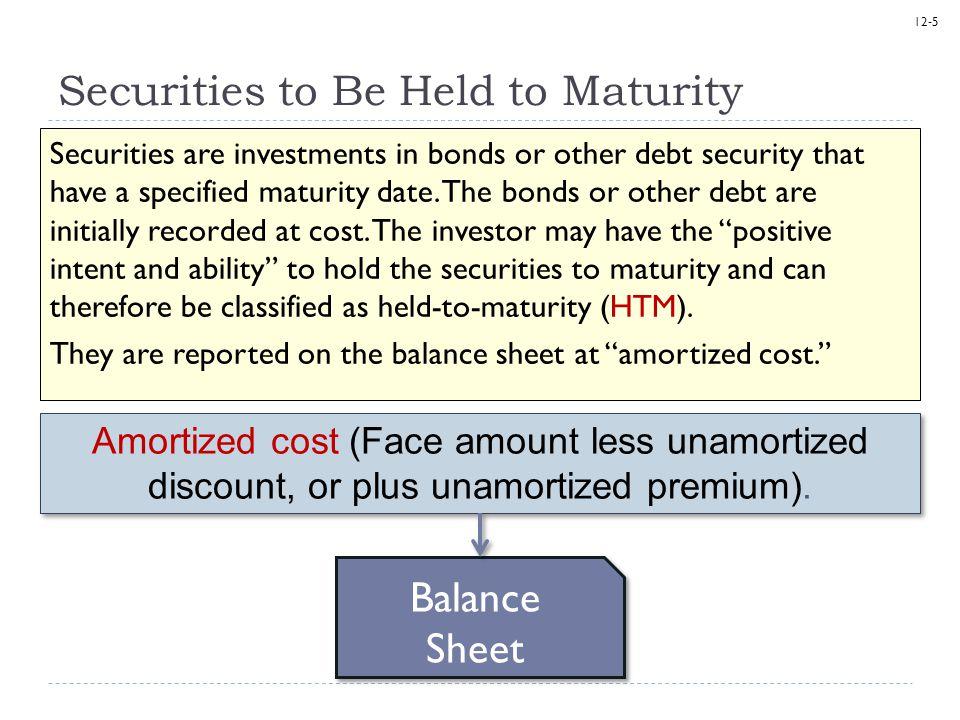 12-6 Securities to Be Held to Maturity On January 1, 2013, Matrix Inc.