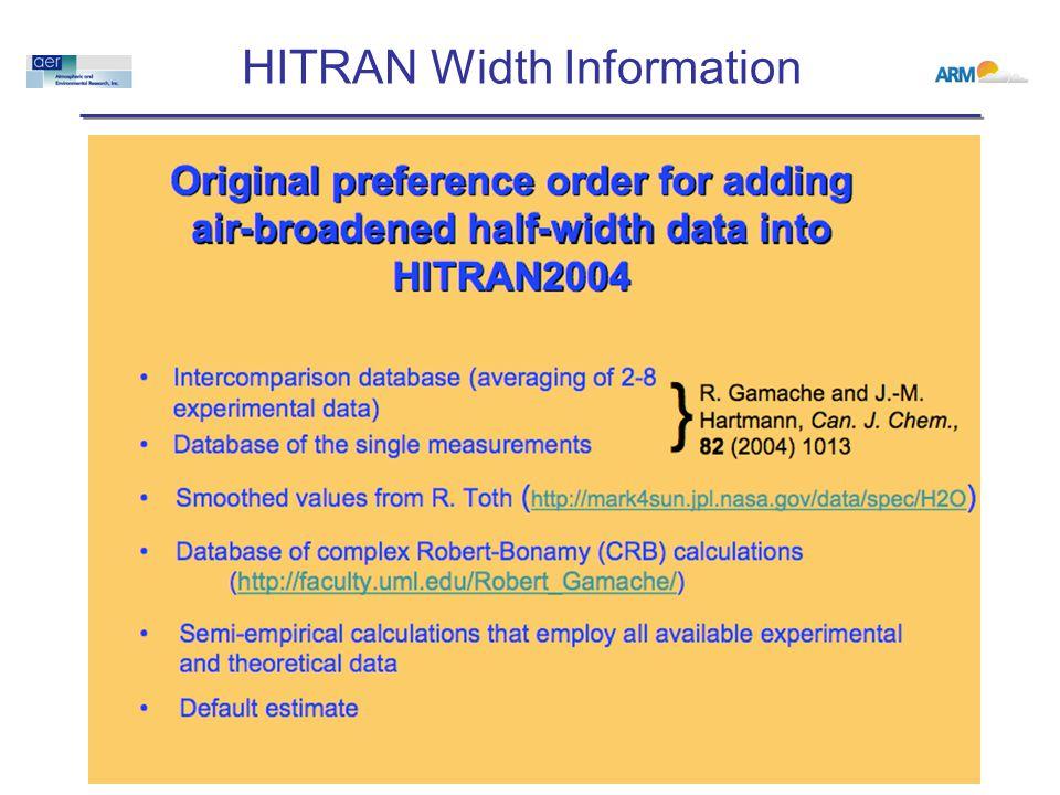 HITRAN Width Information