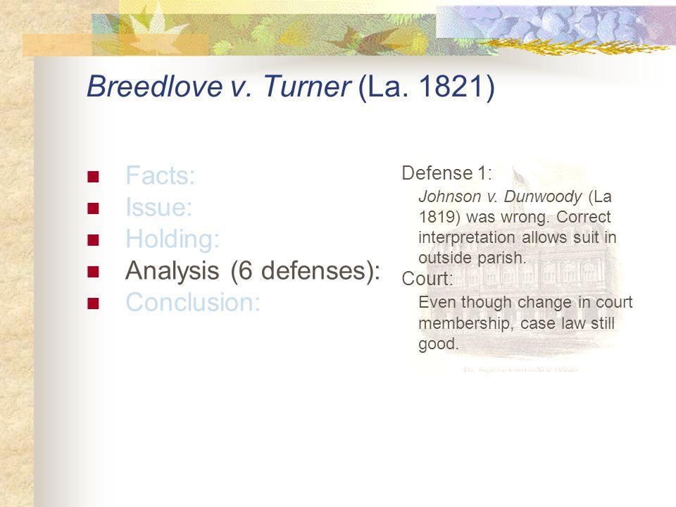 Breedlove v. Turner (La.