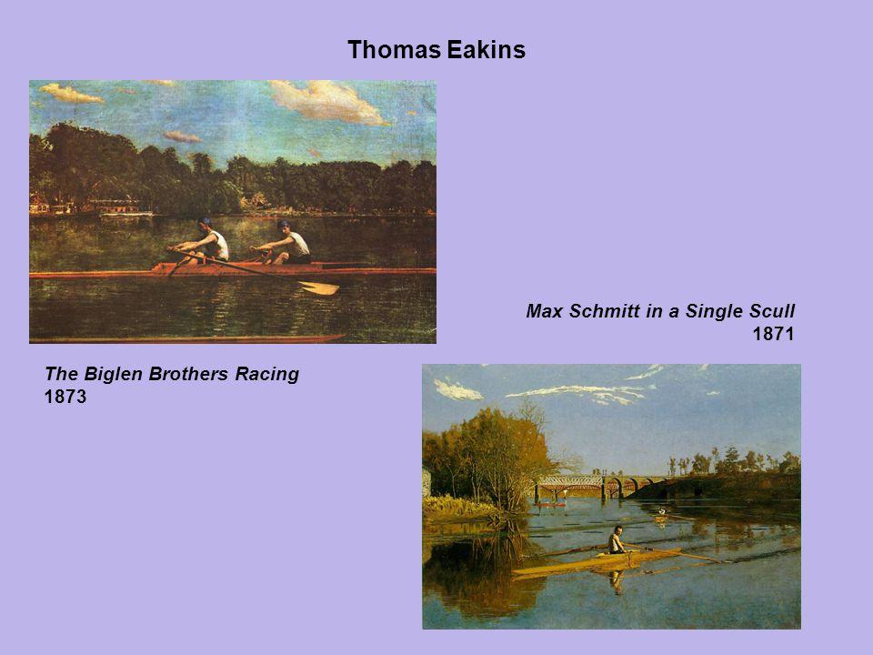 Thomas Eakins The Biglen Brothers Racing 1873 Max Schmitt in a Single Scull 1871