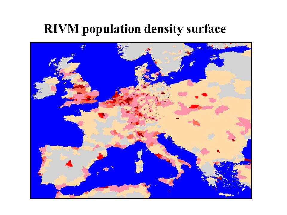 RIVM population density surface