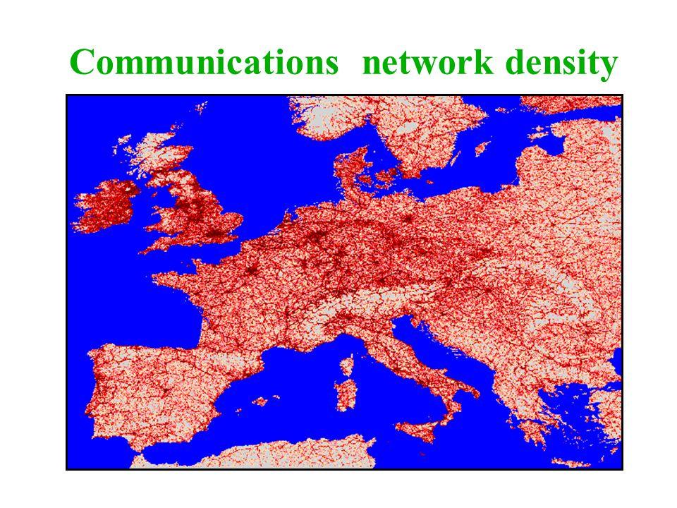 Communications network density