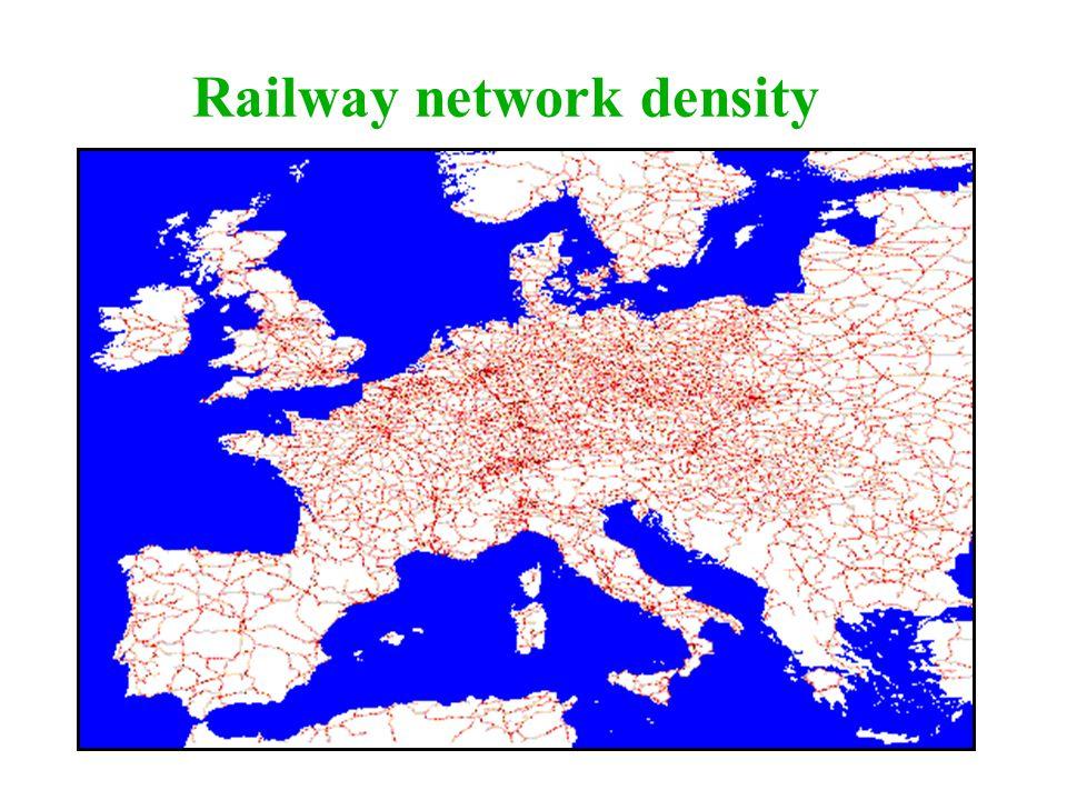 Railway network density