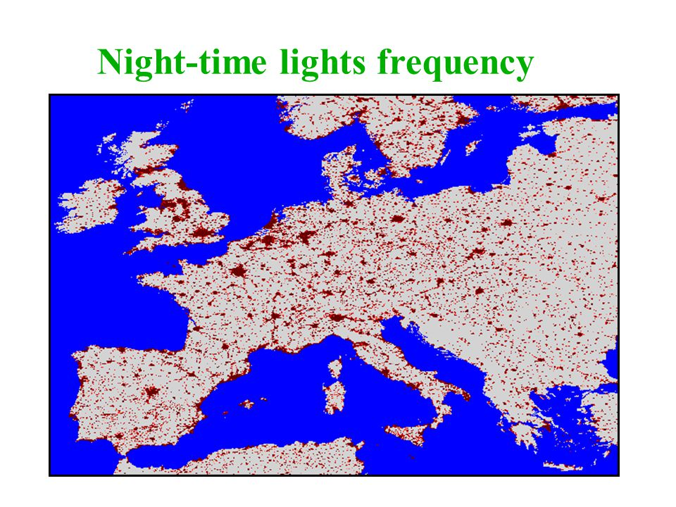 Night-time lights frequency
