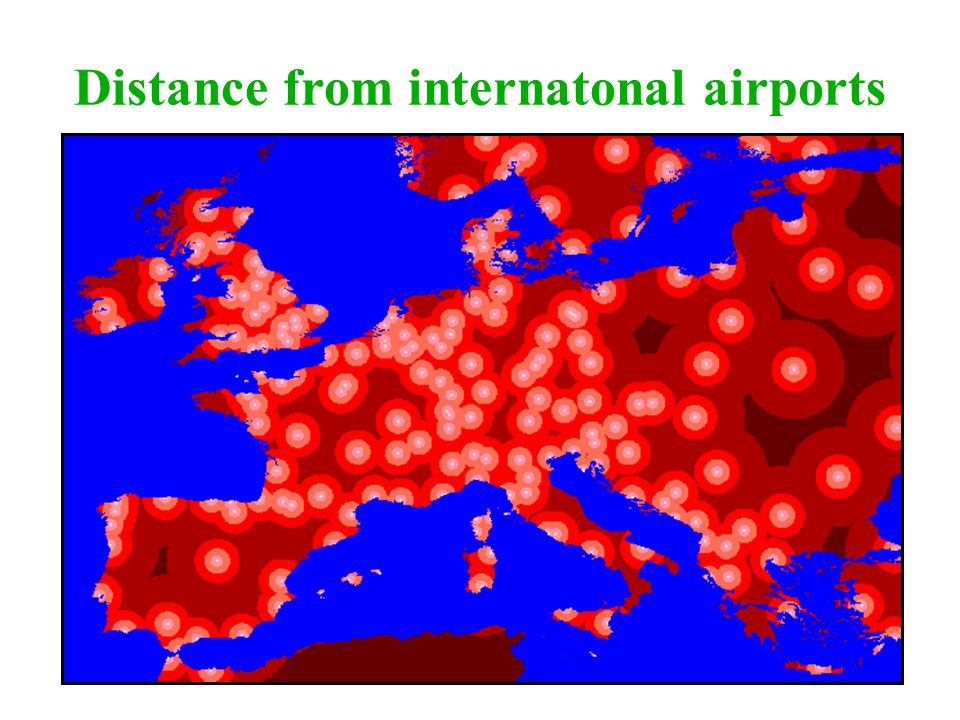 Distance from internatonal airports