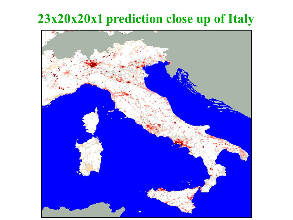 23x20x20x1 prediction close up of Italy