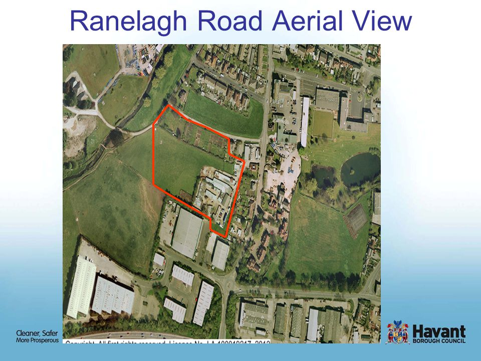 Planning History The site is currently open fields partly used for grazing horses, with mainly disused farm buildings, stables and a former allotment site There are two previous planning applications of particular relevance in the vicinity of the site: 06/67936/002Land North of Ranelagh Road 22 houses and garages - Allowed on Appeal January 2008 and now constructed 02/64177/000Portsmouth Water at Ranelagh Road Change of use of open land to west of Meyrick Road to public open space.