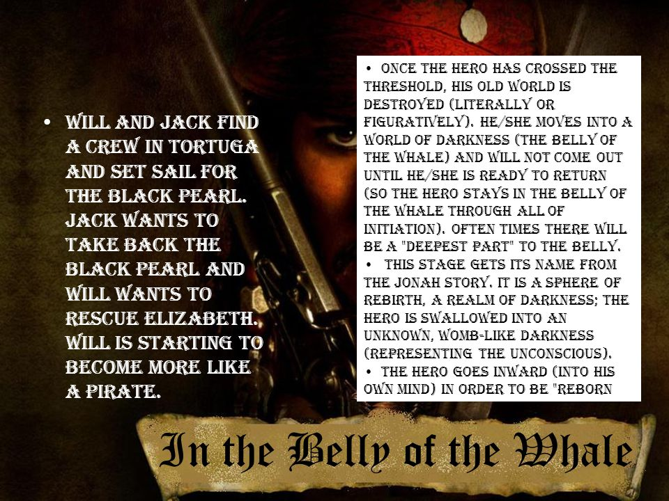 In the Belly of the Whale Will and Jack find a crew in Tortuga and set sail for the Black Pearl.