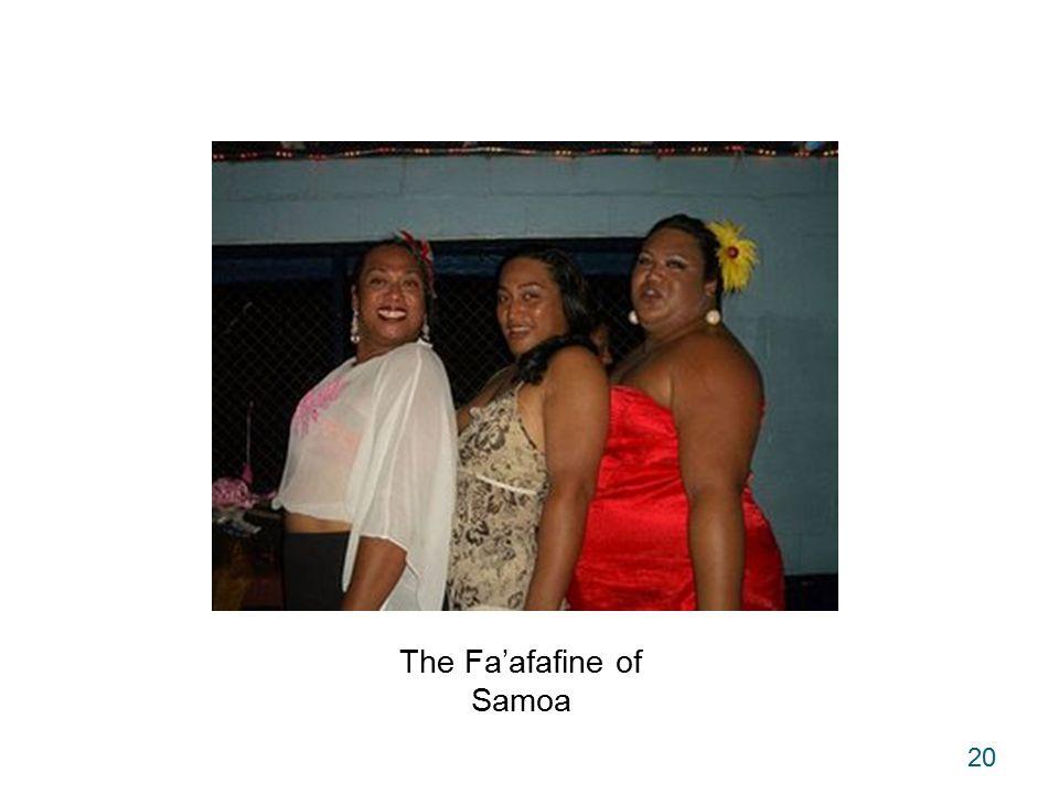 20 The Fa'afafine of Samoa
