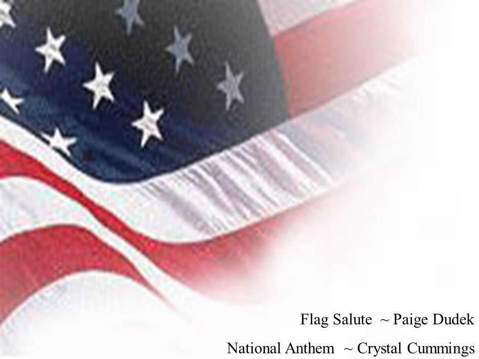 Flag Salute ~ Paige Dudek National Anthem ~ Crystal Cummings