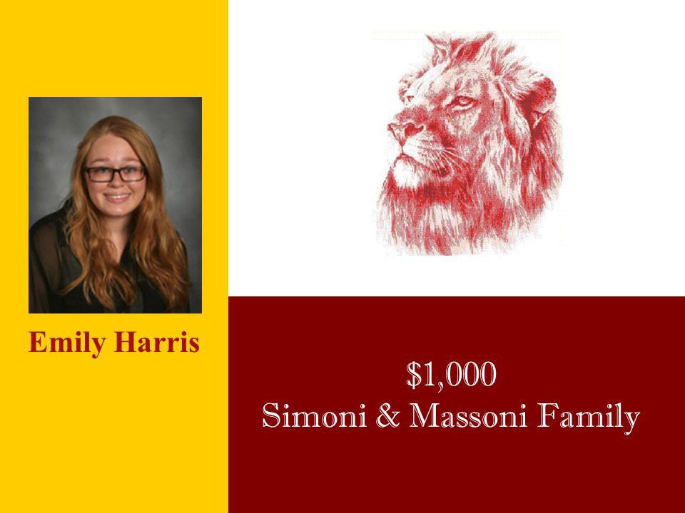 $1,000 Simoni & Massoni Family Emily Harris