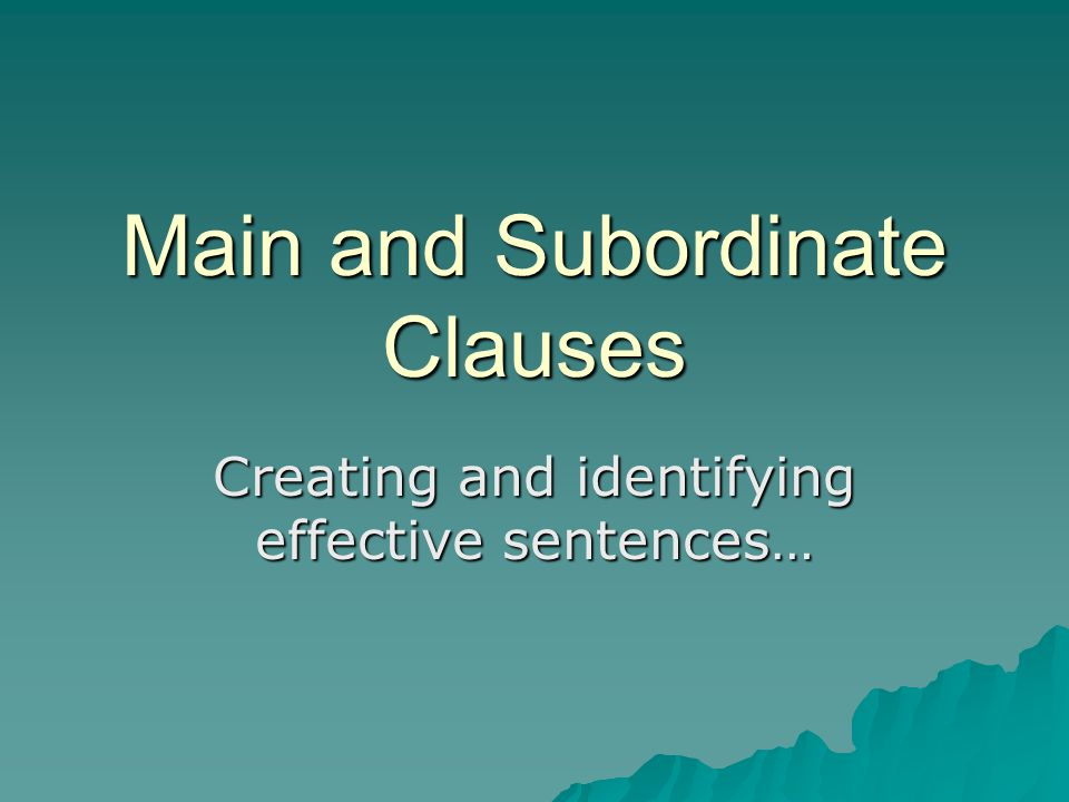 Why learn about clauses.