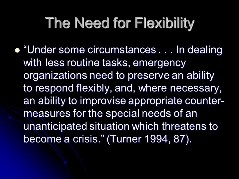 What is Flexibility.