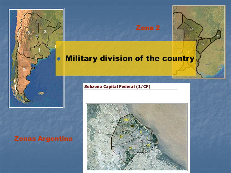 -EAAF- Zonas Argentina Zona 2 l Military division of the country