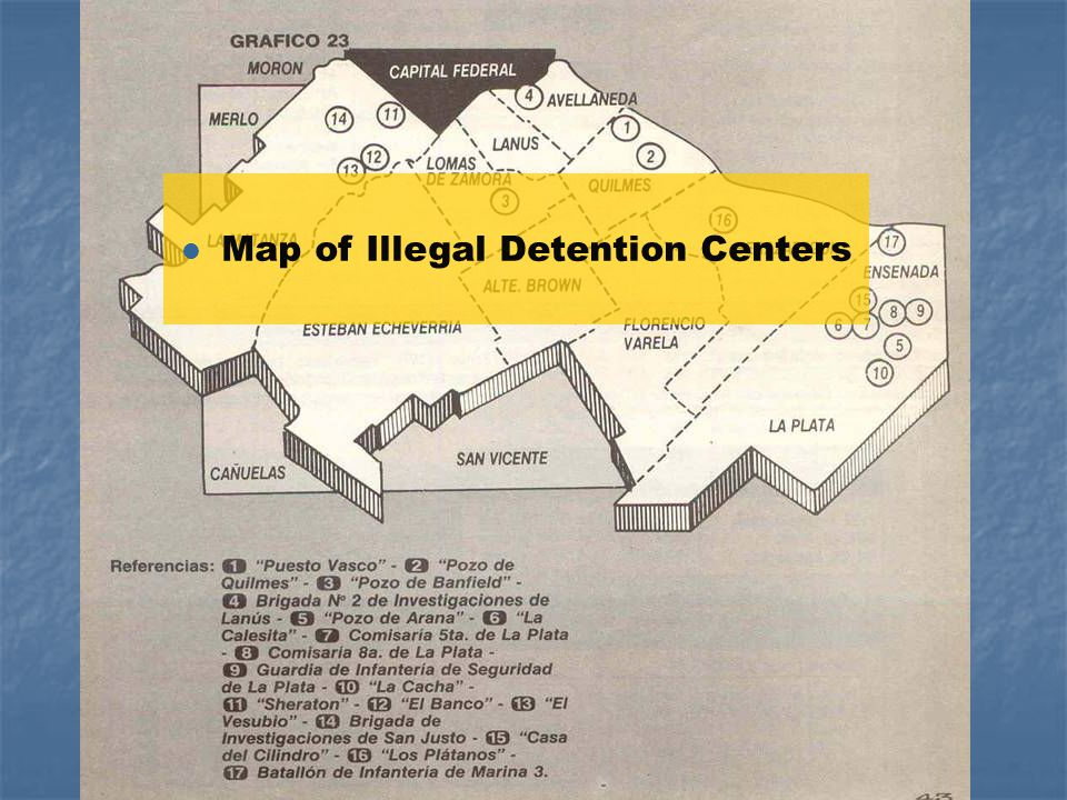 l Map of Illegal Detention Centers