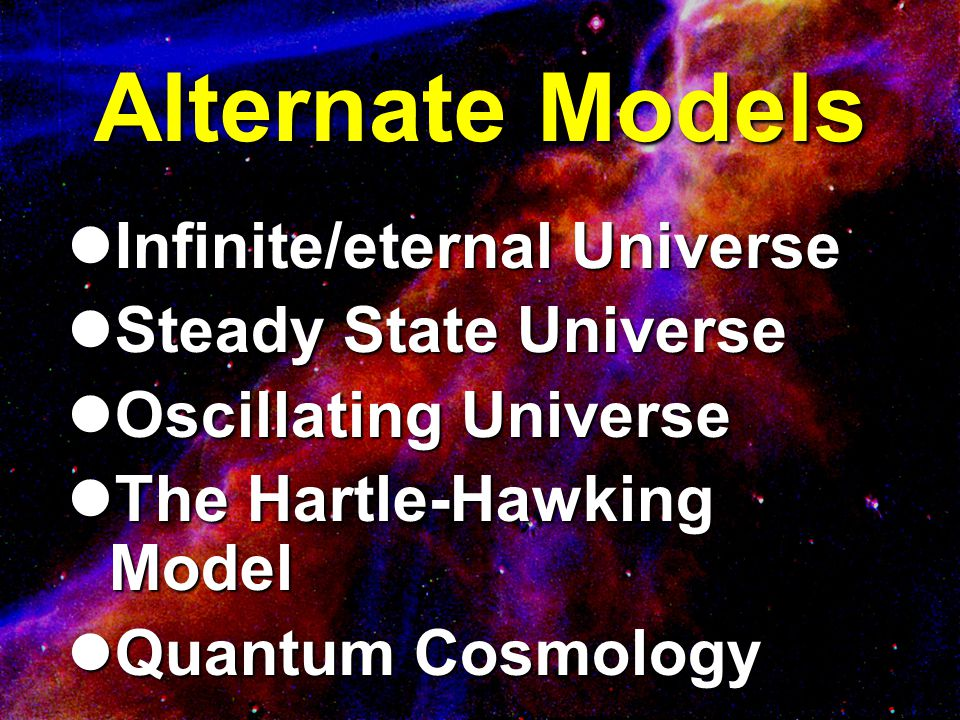 A Just Right Universe Parameter Maximum Deviation Ground state of He, Be, C, O ± 4% Mass of neutron ± 0.1% Electron:Proton Ratio ± 1:10 37 Electromagnetic force:gravity ± 1:10 40 Expansion rate of universe ± 1:10 55 Cosmological Constant ± 1:10 120