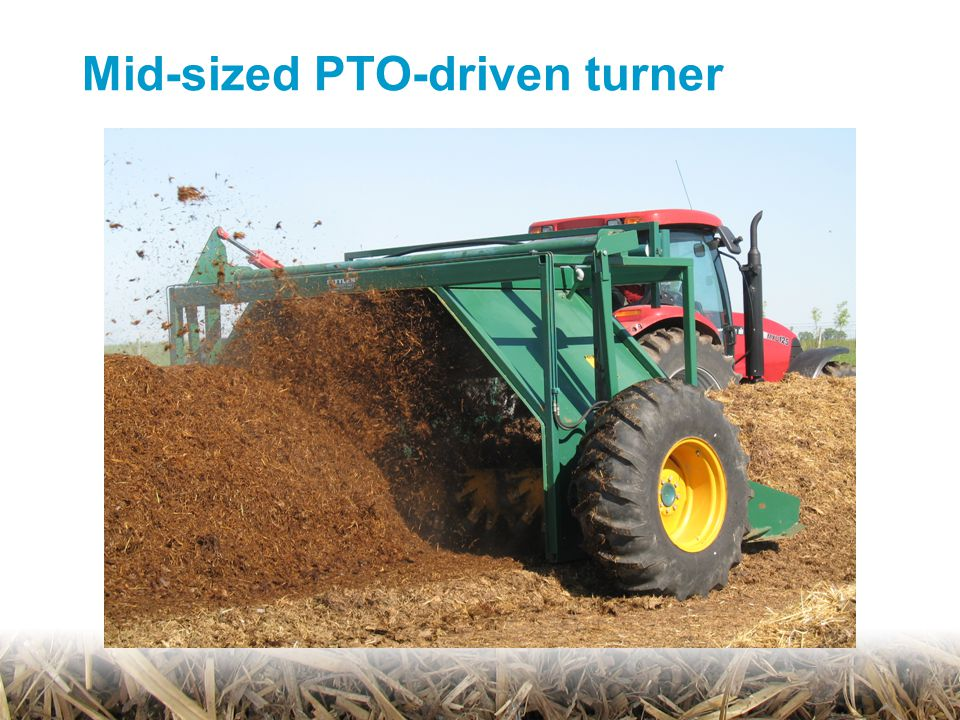 Mid-sized PTO-driven turner