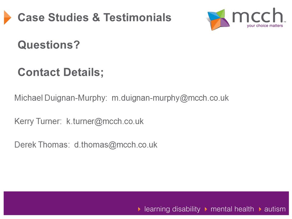 Case Studies & Testimonials Questions.