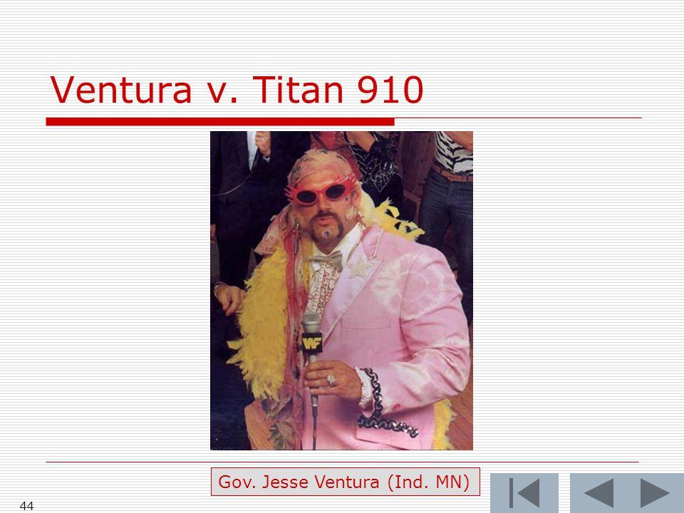 Ventura v. Titan 910 44 Gov. Jesse Ventura (Ind. MN)