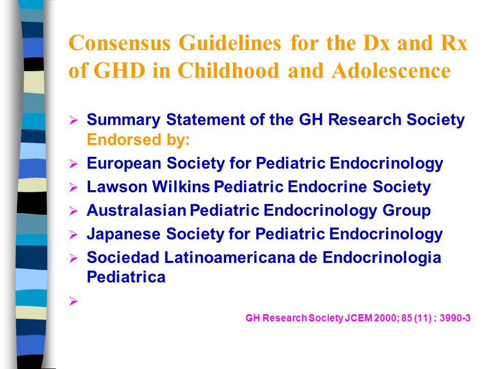 Importance of Diagnosis of GHD 1.