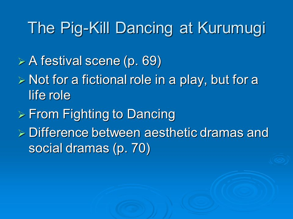 The Pig-Kill Dancing at Kurumugi  A festival scene (p.