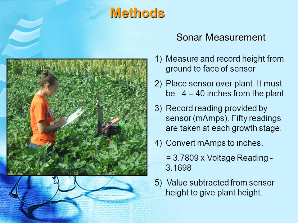 1)Measure and record height from ground to face of sensor 2)Place sensor over plant.