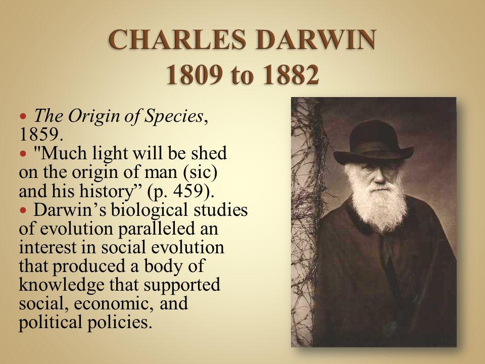 The Origin of Species, 1859.