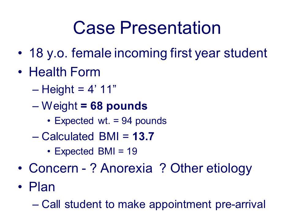 Case Presentation 18 y.o.