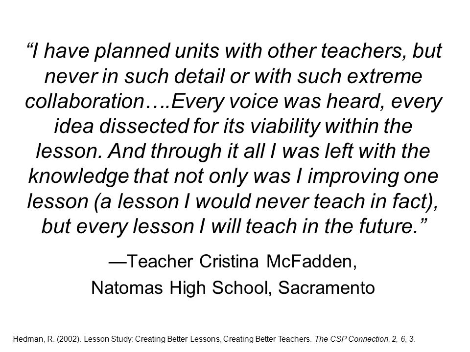 I have planned units with other teachers, but never in such detail or with such extreme collaboration….Every voice was heard, every idea dissected for its viability within the lesson.