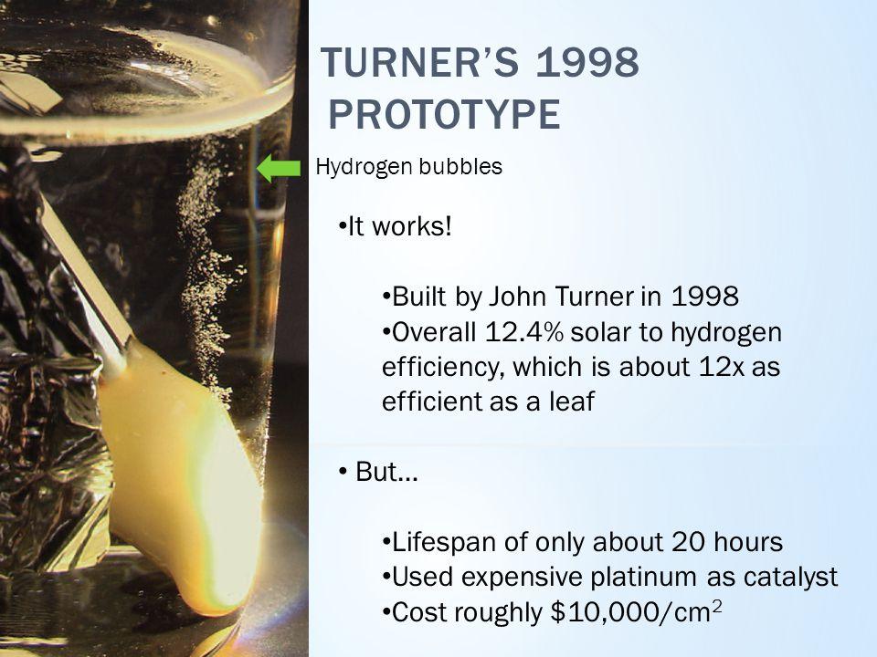 TURNER'S 1998 PROTOTYPE It works.