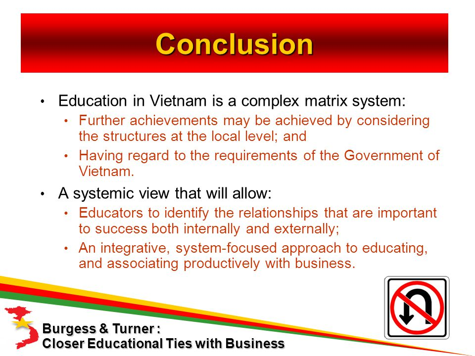 Education in Vietnam is a complex matrix system: Further achievements may be achieved by considering the structures at the local level; and Having regard to the requirements of the Government of Vietnam.