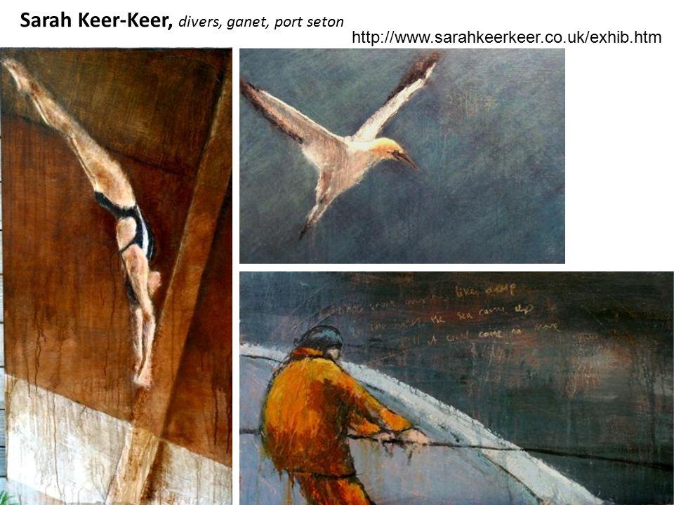 Sarah Keer-Keer, divers, ganet, port seton http://www.sarahkeerkeer.co.uk/exhib.htm