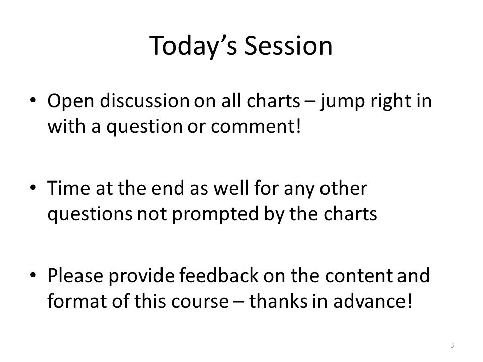 Today's Session Open discussion on all charts – jump right in with a question or comment.