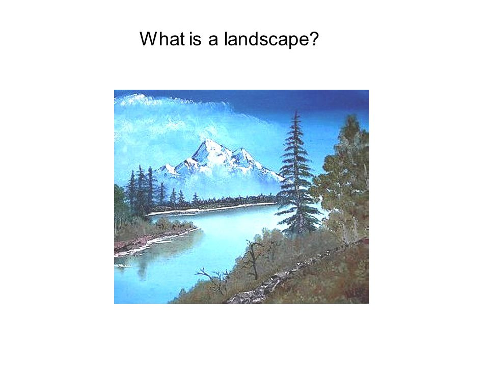 What is a landscape