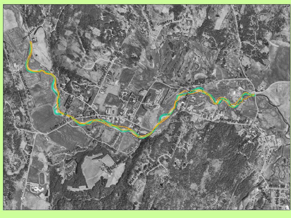 Link changes in channel morphology of the west branch of the Little River to gravel extraction by: –Observing two time periods (1962 and 2000).