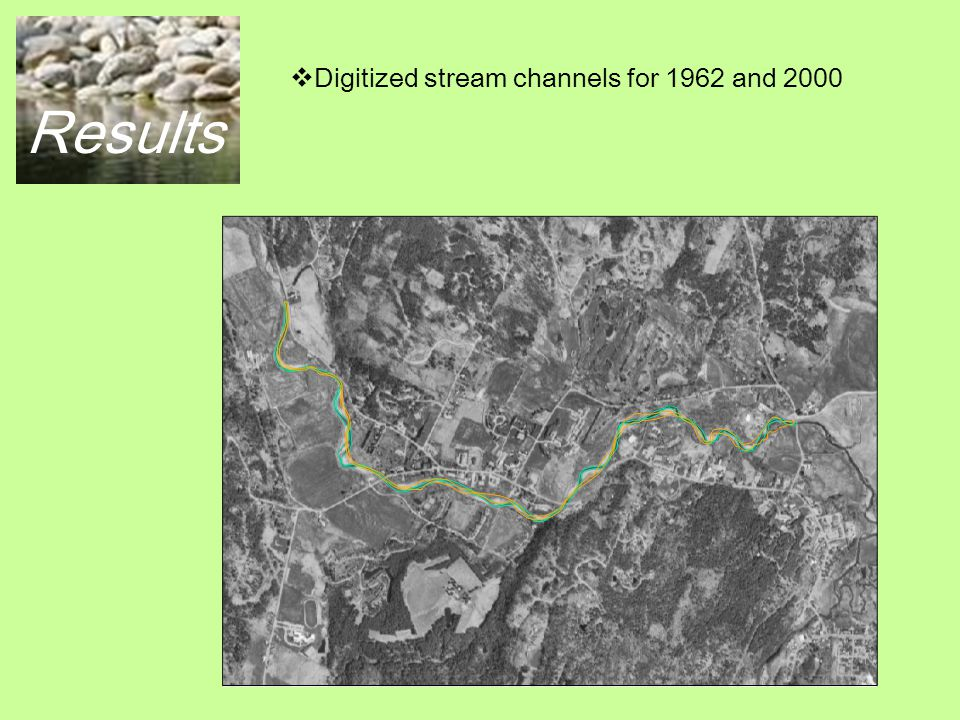 Results  Digitized gravel bars: 1962 and 2000