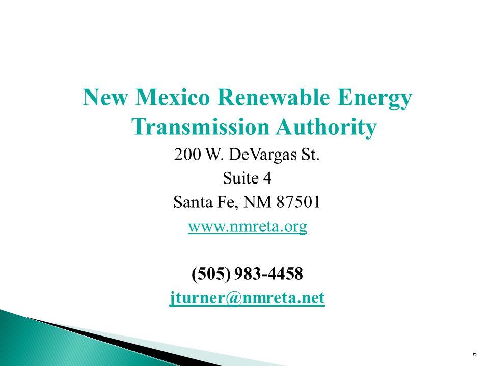 New Mexico Renewable Energy Transmission Authority 200 W.