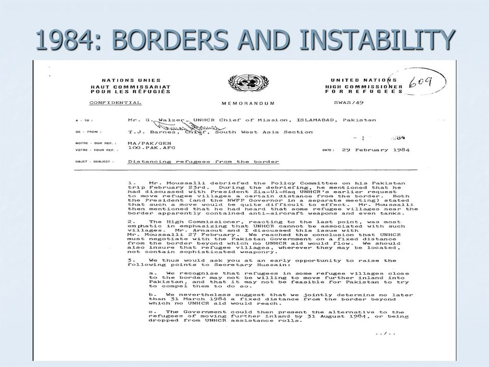 1984: BORDERS AND INSTABILITY