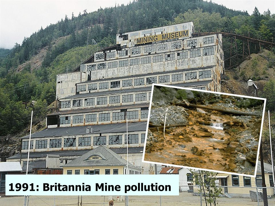 1991: Britannia Mine pollution