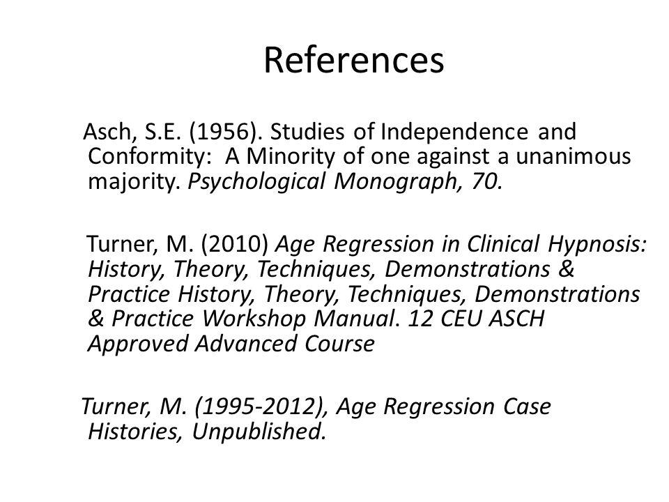 References Asch, S.E. (1956).